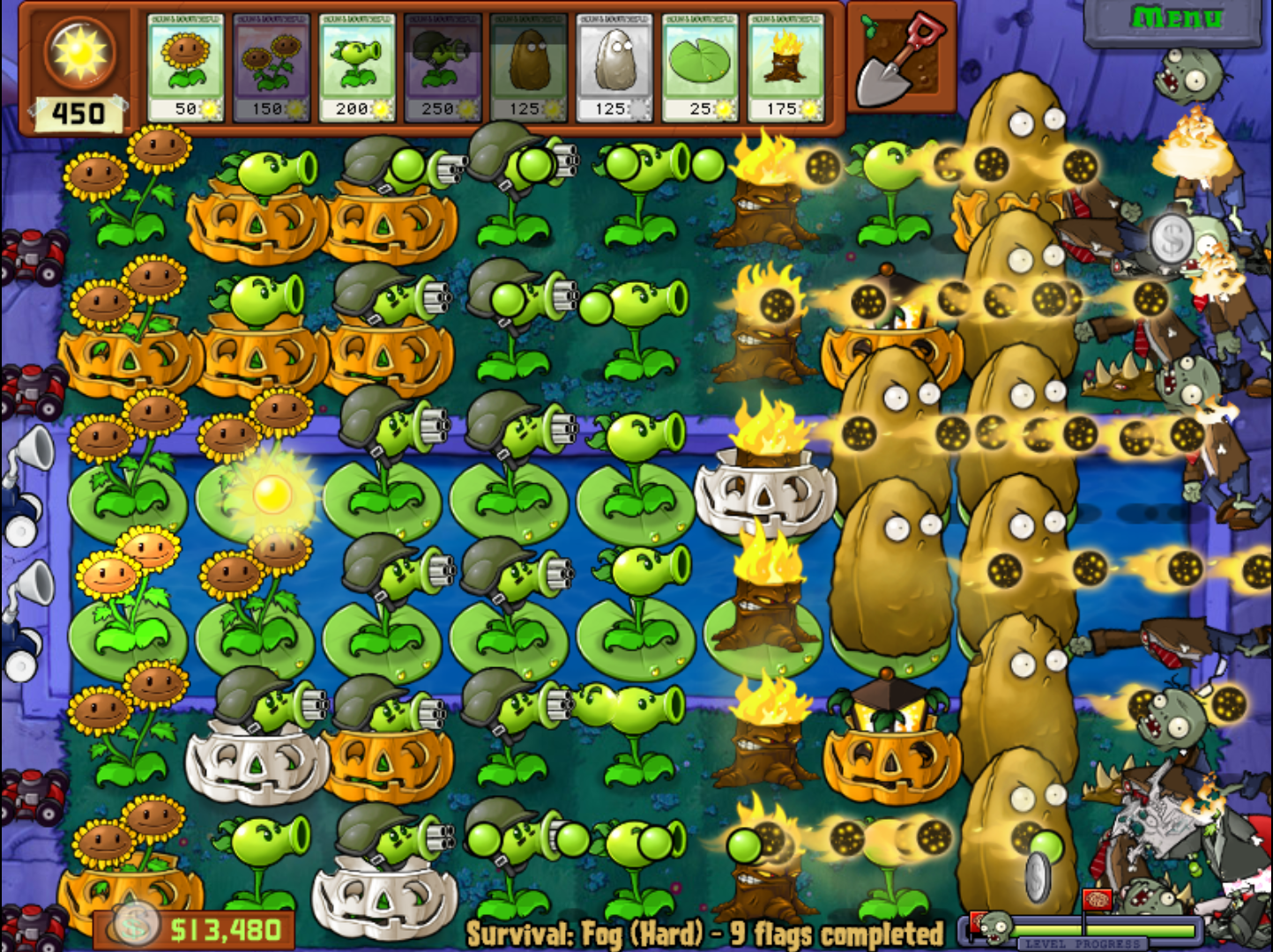 plant vs zombies online game play